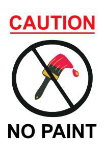no paint