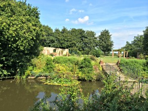 Yes, I'm not kidding.  This is the moat with it's bridge.